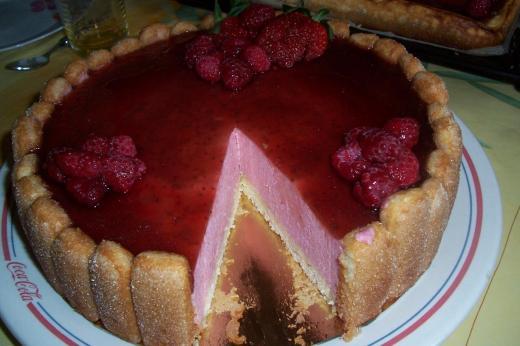 bavarois aux fraise