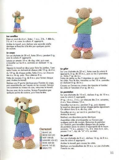 Amigurumi ours au crochet 2