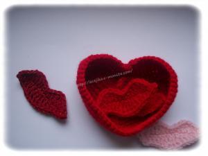 Boite coeur au crochet