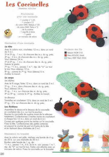 Coccinelle crochet