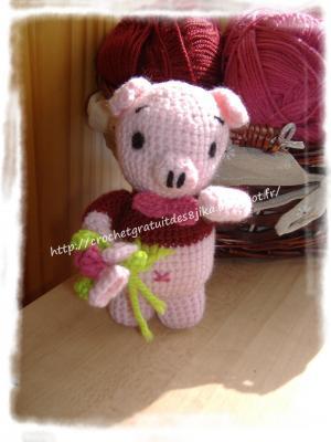 Cochon au crochet