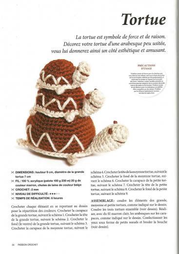 Crochet amigurumi tortue