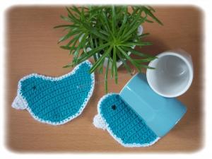 Dessous de tasse oiseau bleu