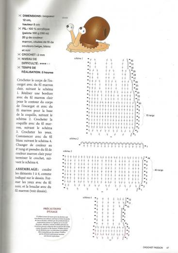 Escragot au crochet explications
