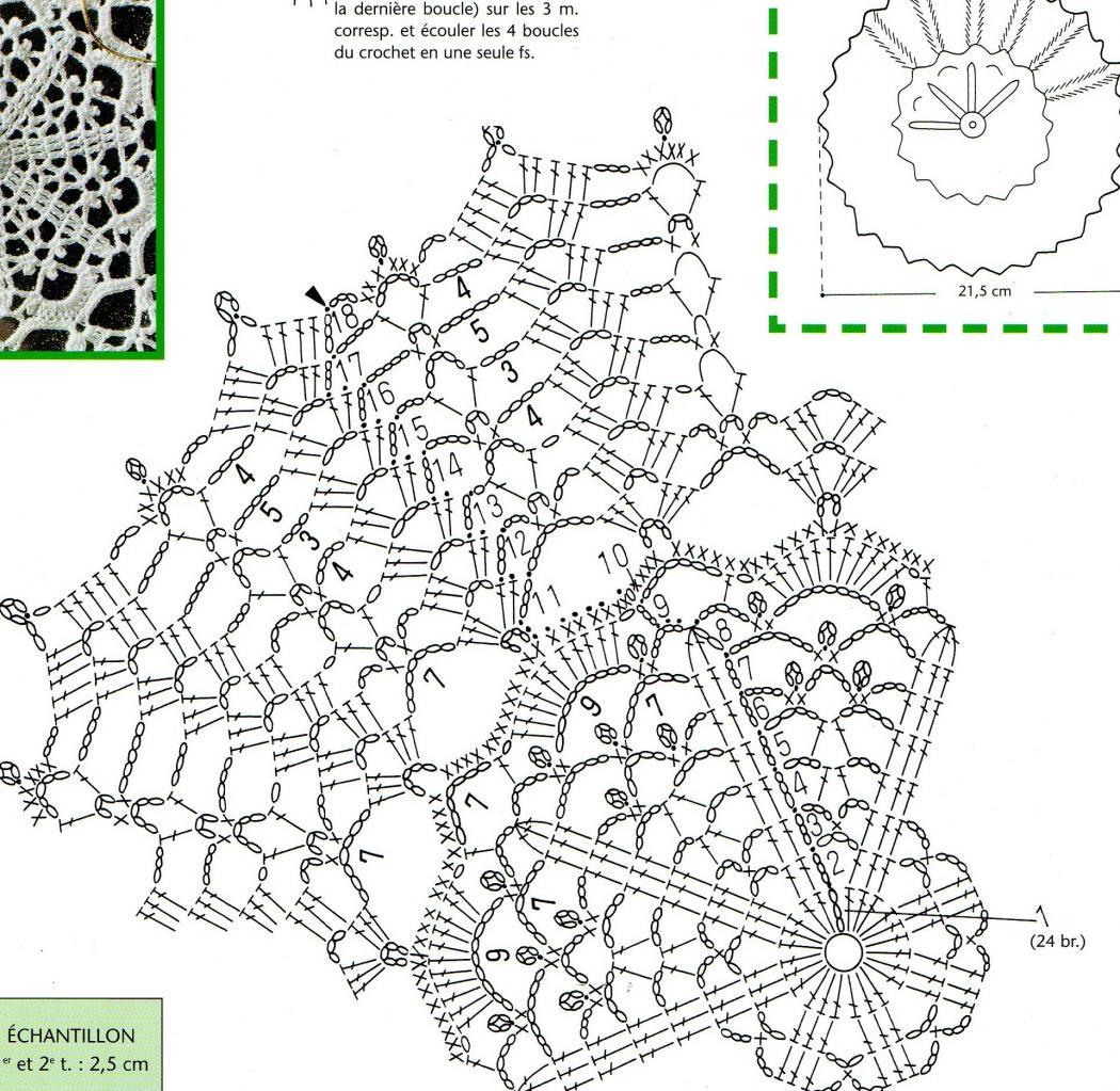 Site De Crochet : site de crochet et napperons ronds et grilles gratuites,crEations ...
