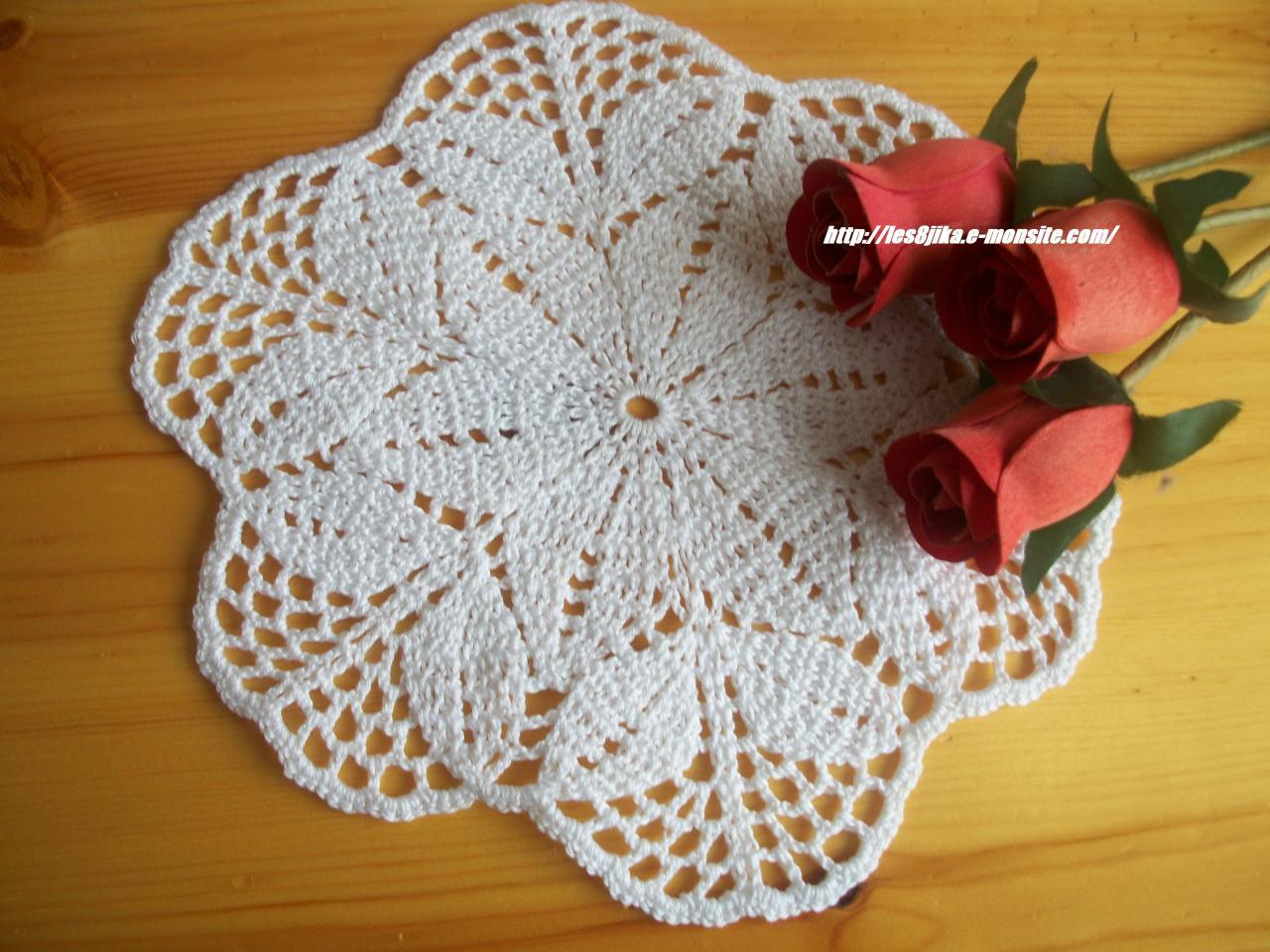site de crochet et napperons ronds et grilles gratuites. Black Bedroom Furniture Sets. Home Design Ideas