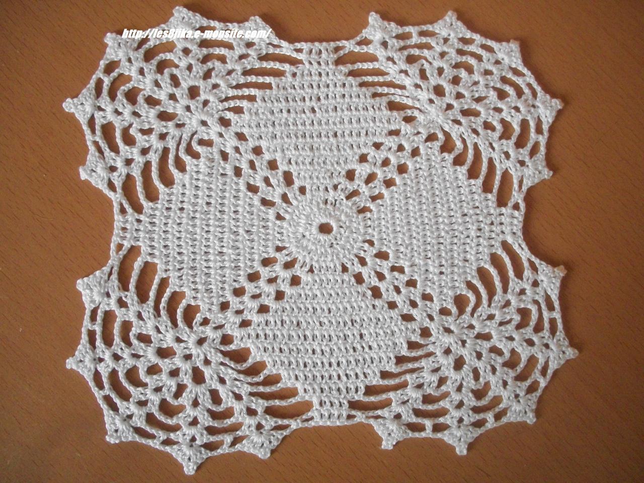Napperons Carrés Et Grilles Gratuites Créations Crochet